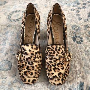 Sam edelman Ellison loafer leopard pumps
